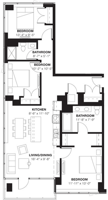 3 Bedrooms, Evanston Rental in Chicago, IL for $3,876 - Photo 2