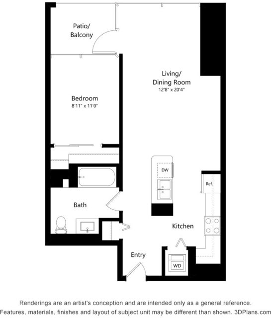Studio, The Loop Rental in Chicago, IL for $2,115 - Photo 2