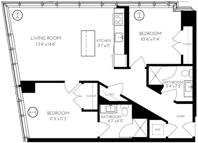 2 Bedrooms, Seaport District Rental in Boston, MA for $4,908 - Photo 1