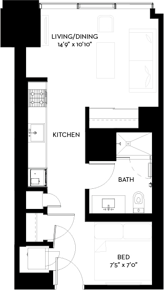 Studio, South Loop Rental in Chicago, IL for $2,046 - Photo 1