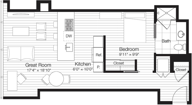 Studio, Streeterville Rental in Chicago, IL for $2,525 - Photo 1