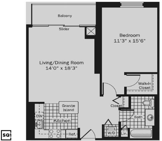 1 Bedroom, Printer's Row Rental in Chicago, IL for $2,642 - Photo 2