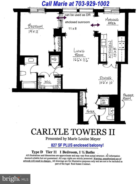 1 Bedroom, Carlyle Towers Condominiums Rental in Washington, DC for $2,250 - Photo 2