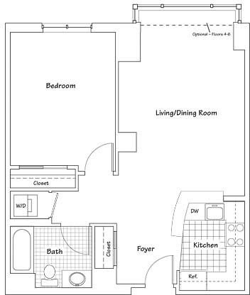 1 Bedroom, Seaport District Rental in Boston, MA for $3,517 - Photo 1