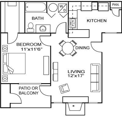 1 Bedroom, Larimer Rental in Fort Collins, CO for $1,250 - Photo 1