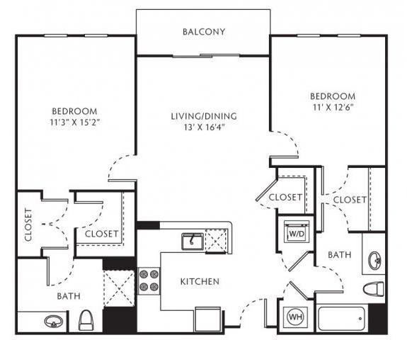 2 Bedrooms, Central Rockville Rental in Washington, DC for $2,250 - Photo 1