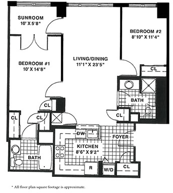 2 Bedrooms, West End Rental in Washington, DC for $3,390 - Photo 1