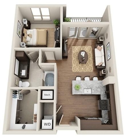 1 Bedroom, Uptown Rental in Dallas for $1,303 - Photo 1