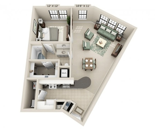 1 Bedroom, Genesis Park Rental in Houston for $1,404 - Photo 1