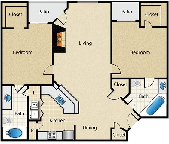 2 Bedrooms, Vinings Rental in Atlanta, GA for $1,199 - Photo 1