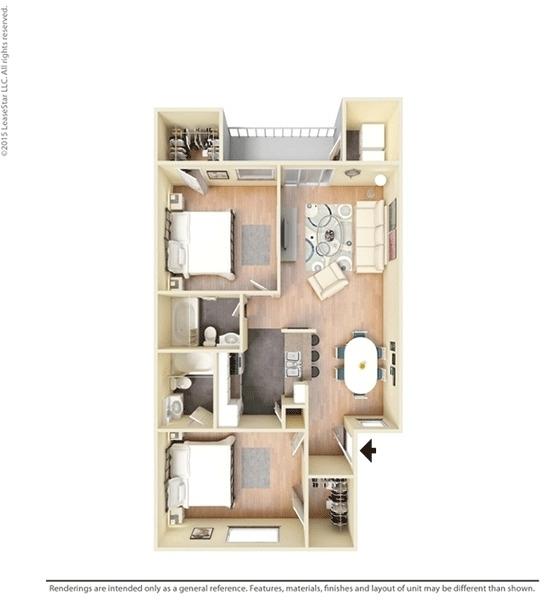 2 Bedrooms, Lake Madeline Rental in Houston for $975 - Photo 1