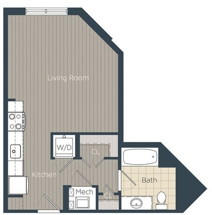 Studio, Braddock Place Condominiums Rental in Washington, DC for $1,725 - Photo 1