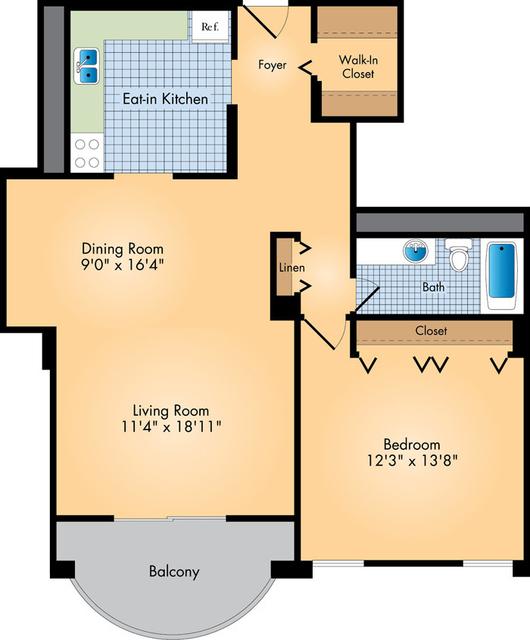 1 Bedroom, Crystal City Shops Rental in Washington, DC for $1,697 - Photo 1