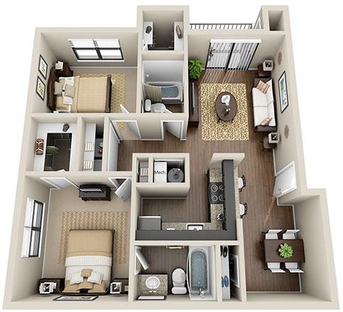 2 Bedrooms, Fulton Rental in Atlanta, GA for $1,075 - Photo 1