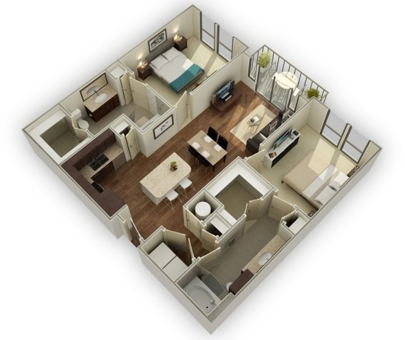 2 Bedrooms, Midtown Rental in Houston for $2,235 - Photo 1
