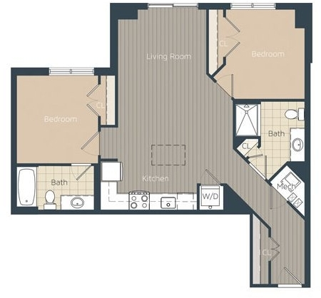 2 Bedrooms, Braddock Place Condominiums Rental in Washington, DC for $2,825 - Photo 1