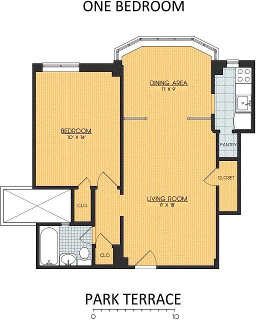 1 Bedroom, Lanier Heights Rental in Washington, DC for $1,600 - Photo 1