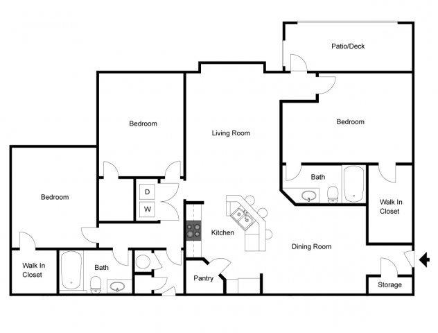 3 Bedrooms, Gwinnett Rental in Atlanta, GA for $1,255 - Photo 1