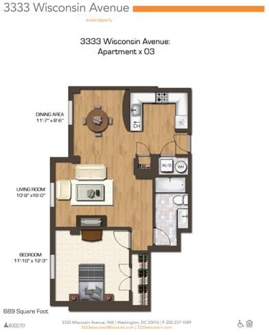 1 Bedroom, Cleveland Park Rental in Washington, DC for $1,987 - Photo 1