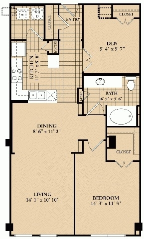 1 Bedroom, Uptown Rental in Dallas for $1,487 - Photo 1
