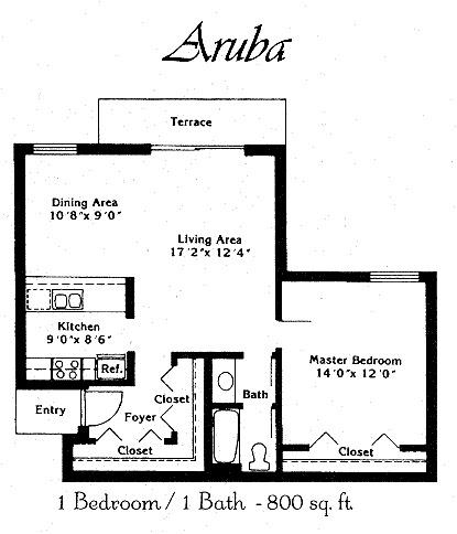 1 Bedroom, Plantation Rental in Miami, FL for $1,355 - Photo 1
