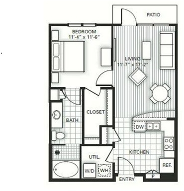 1 Bedroom, Greenway - Upper Kirby Rental in Houston for $1,283 - Photo 1