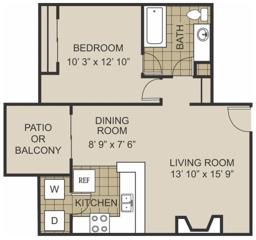 1 Bedroom, North Arlington Rental in Dallas for $625 - Photo 1