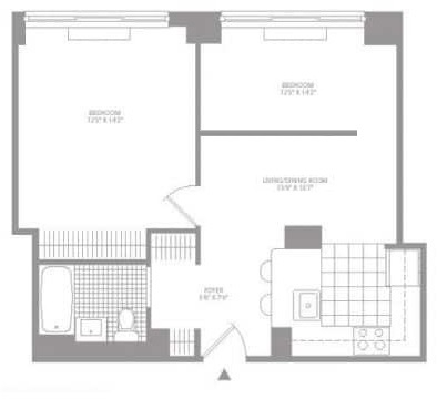 1 Bedroom, Civic Center Rental in NYC for $4,044 - Photo 2