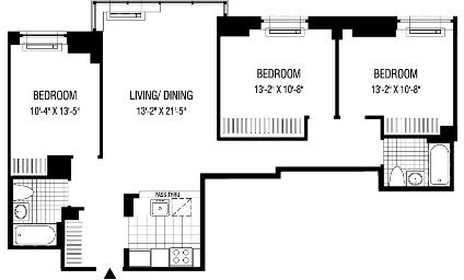 3 Bedrooms, Financial District Rental in NYC for $7,675 - Photo 2