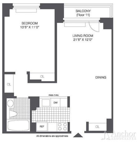 1 Bedroom, Roosevelt Island Rental in NYC for $2,469 - Photo 2
