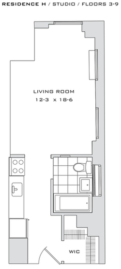 Studio, Financial District Rental in NYC for $2,326 - Photo 2