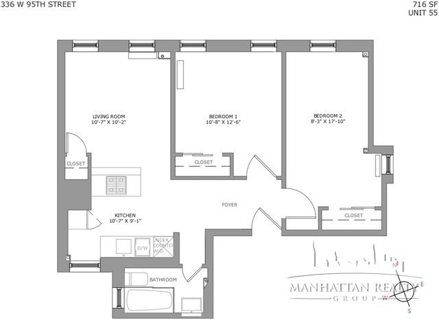 2 Bedrooms, Upper West Side Rental in NYC for $4,246 - Photo 1