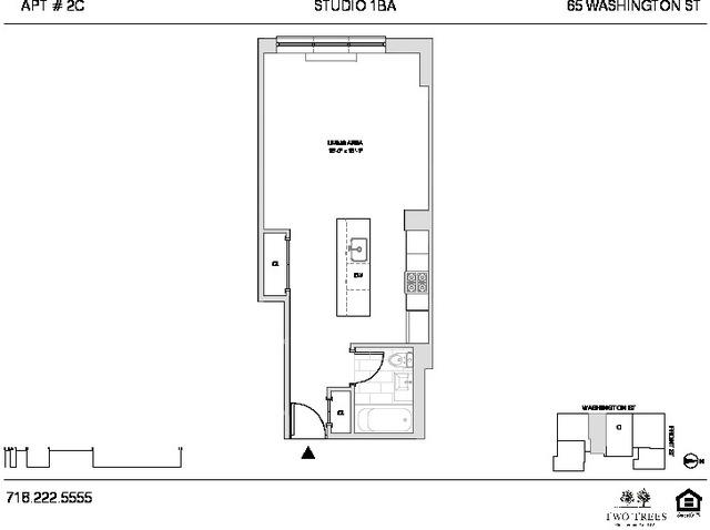 Studio, DUMBO Rental in NYC for $2,796 - Photo 2