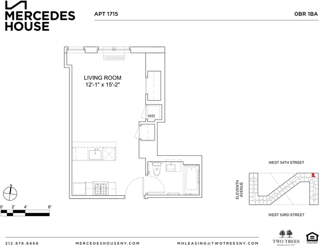 Studio, Hell's Kitchen Rental in NYC for $2,688 - Photo 2