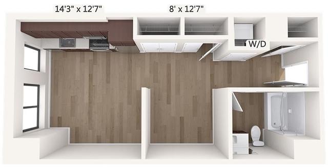 Studio, Chinatown - Leather District Rental in Boston, MA for $2,865 - Photo 1