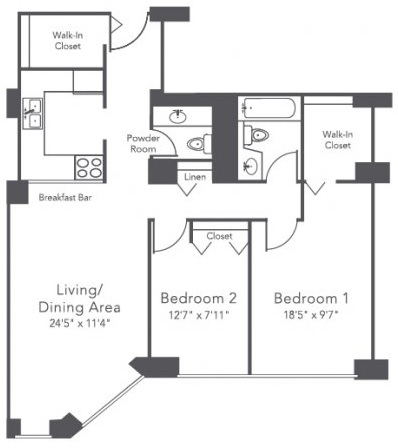 2 Bedrooms, Gold Coast Rental in Chicago, IL for $2,555 - Photo 2