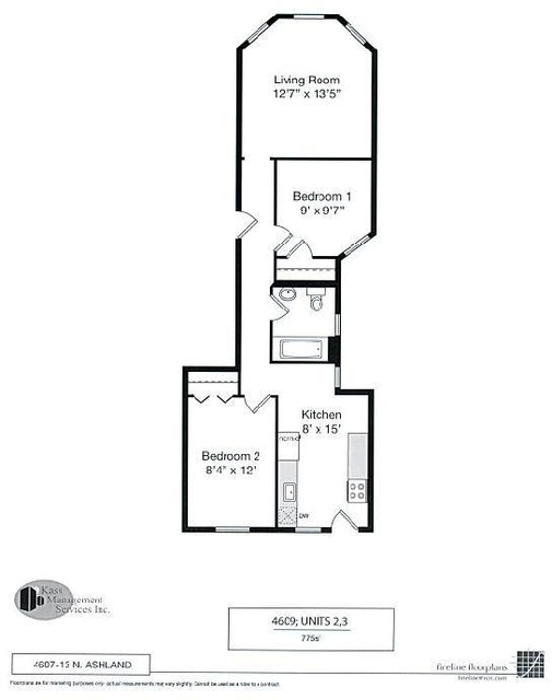 2 Bedrooms, Ravenswood Rental in Chicago, IL for $1,342 - Photo 2