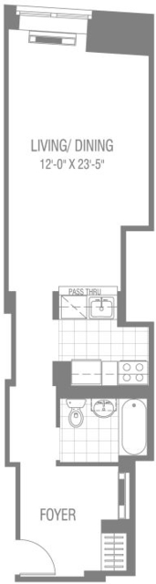 Studio, Financial District Rental in NYC for $2,496 - Photo 2