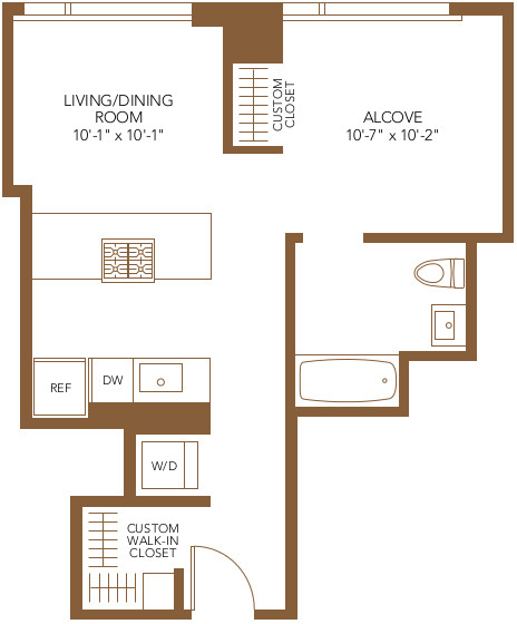 Studio, The Loop Rental in Chicago, IL for $2,513 - Photo 2