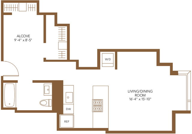 Studio, The Loop Rental in Chicago, IL for $2,338 - Photo 2