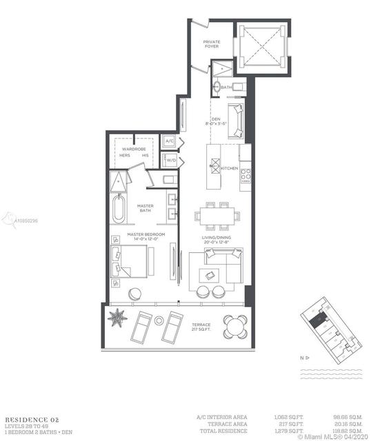 1 Bedroom, Broadmoor Rental in Miami, FL for $3,150 - Photo 2
