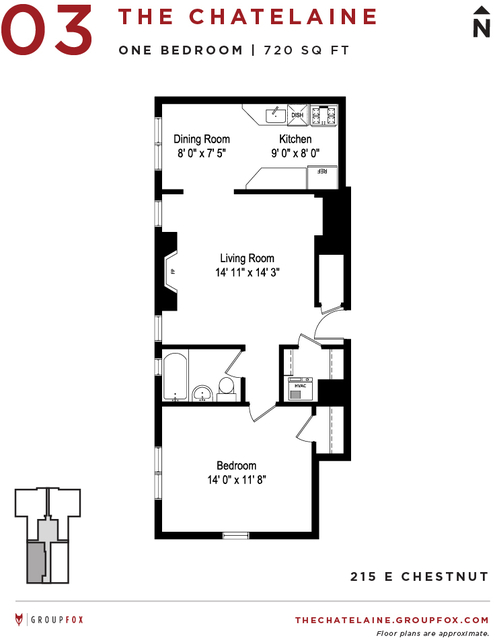 1 Bedroom, Gold Coast Rental in Chicago, IL for $2,040 - Photo 2