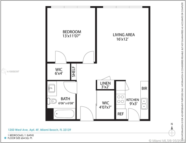 1 Bedroom, West Avenue Rental in Miami, FL for $1,625 - Photo 2
