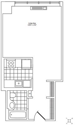 Studio, Rose Hill Rental in NYC for $3,125 - Photo 2