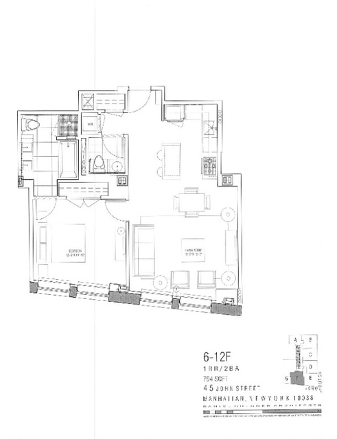 2 Bedrooms, Financial District Rental in NYC for $5,394 - Photo 2