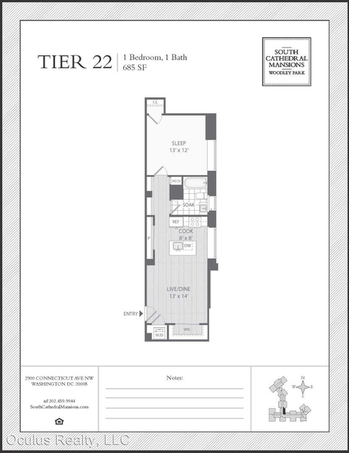 1 Bedroom, Woodley Park Rental in Washington, DC for $2,250 - Photo 2
