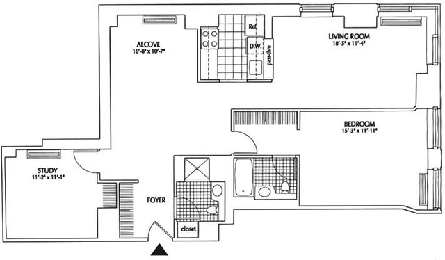 1 Bedroom, Financial District Rental in NYC for $4,888 - Photo 1