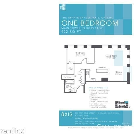 1 Bedroom, Gold Coast Rental in Chicago, IL for $2,305 - Photo 2