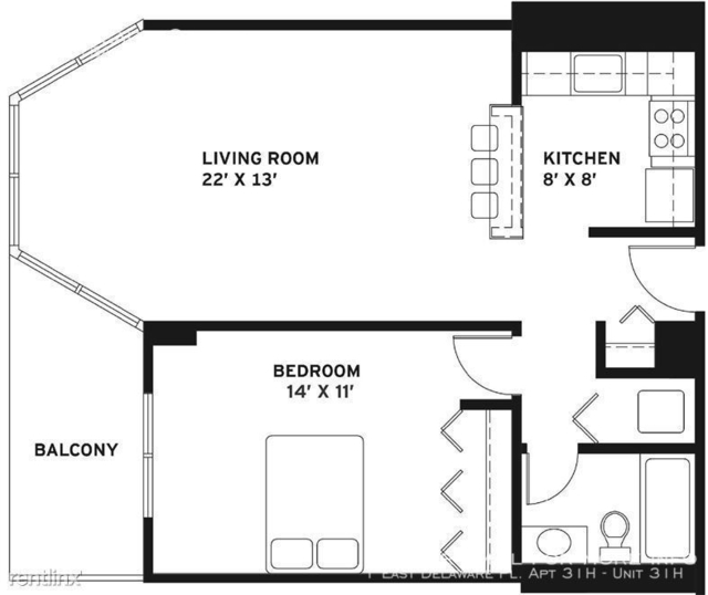 1 Bedroom, Gold Coast Rental in Chicago, IL for $2,605 - Photo 2