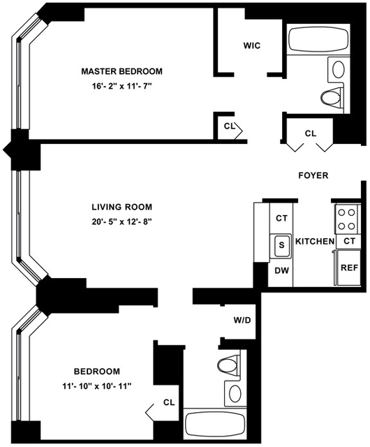 2 Bedrooms, Civic Center Rental in NYC for $5,770 - Photo 2